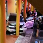 Car crash at shopping plaza raises eyebrows