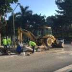 Sinkhole opens at Camana Bay