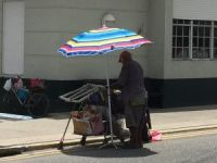 Street vendor in George Town, Grand Cayman
