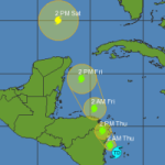 New tropical storm brewing south east of Nicaragua