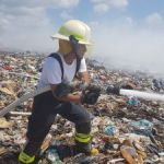 Fire crews tackle new dump blaze