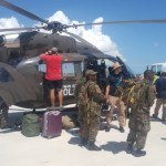 Chopper providing vital assistance to Bahamas