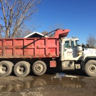 Mack Truck (#10) Soil 18 Ton ROC/Stone 20 Ton Mulch/Compost 22 yards Bank Run 18 Ton