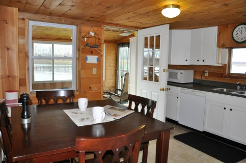 Kitchen has access to lakeside!