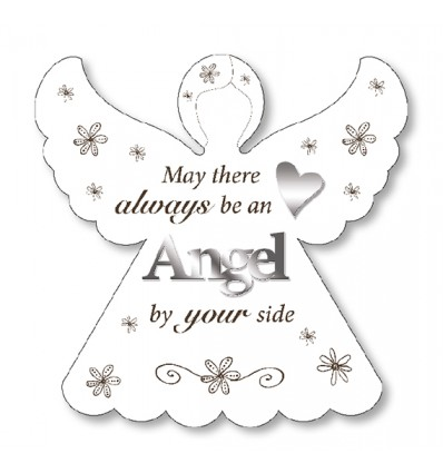 Angel by your side White Plaque.| Caz-Cards Leitrim, Ireland