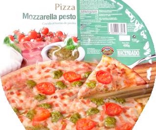 PIZZA CONGELADA MOZZARELLA PESTO