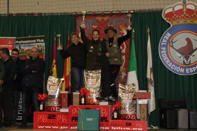 Las ganadoras del II Campeonato de España de Caza Menor con Perro femenino.