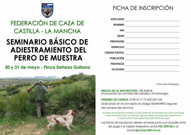 Díptico seminario básico de adiestramiento del perro de muestra-1