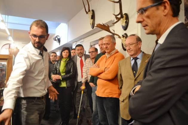 Félix Antonio Jaime explica el contenido del Museo.
