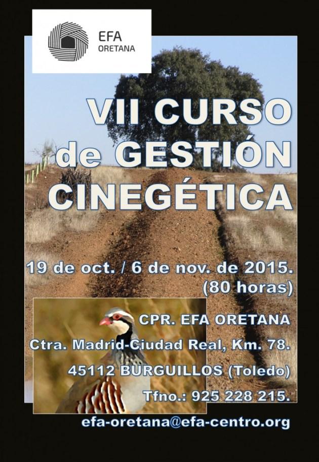 Cartel publicidad VII Curso Gestión Cinegética