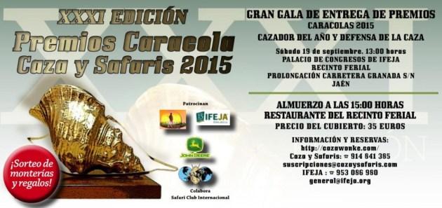 Invitacion Gala Caracolas 2015