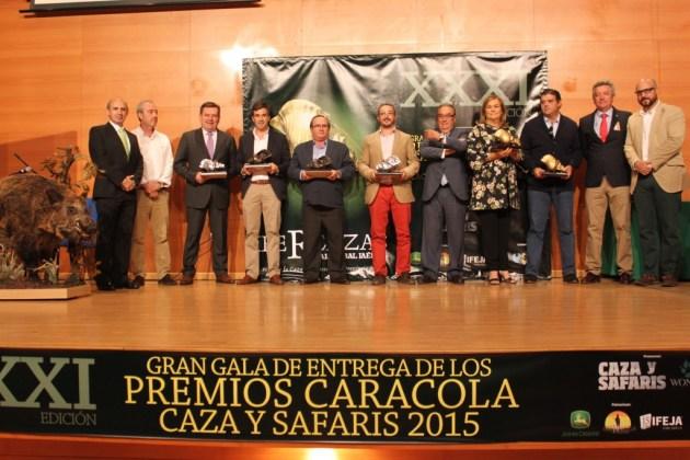 Los ganadores de las caracolas de oro, plata y bronce en abierto.