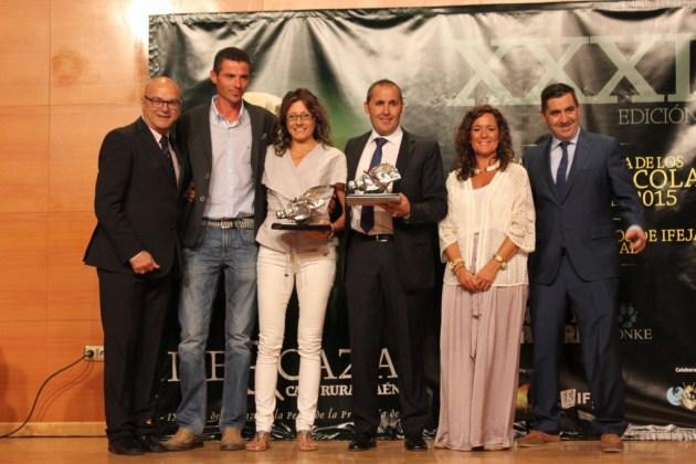 """Caracola de plata a la mejor montería en cerrado: """"Ribera Alta"""", organizada por Sierra España."""
