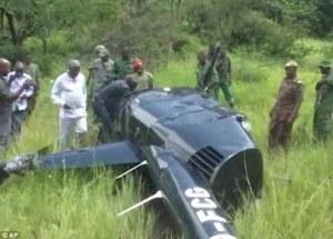 helicoptero abatido por furtivos