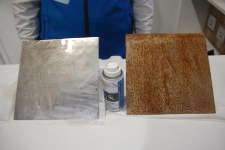 Imágenes de muestra de la aplicación del producto durante 5 semanas en el exterior en ambiente marino.