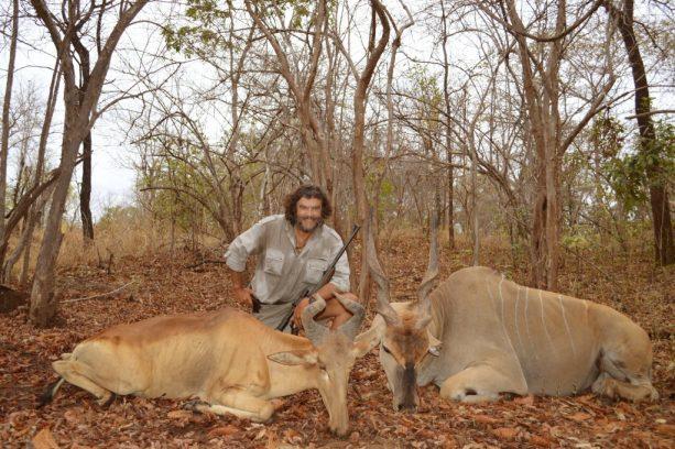 tanzania eland de Patterson y hartebeest de Liechtenstein