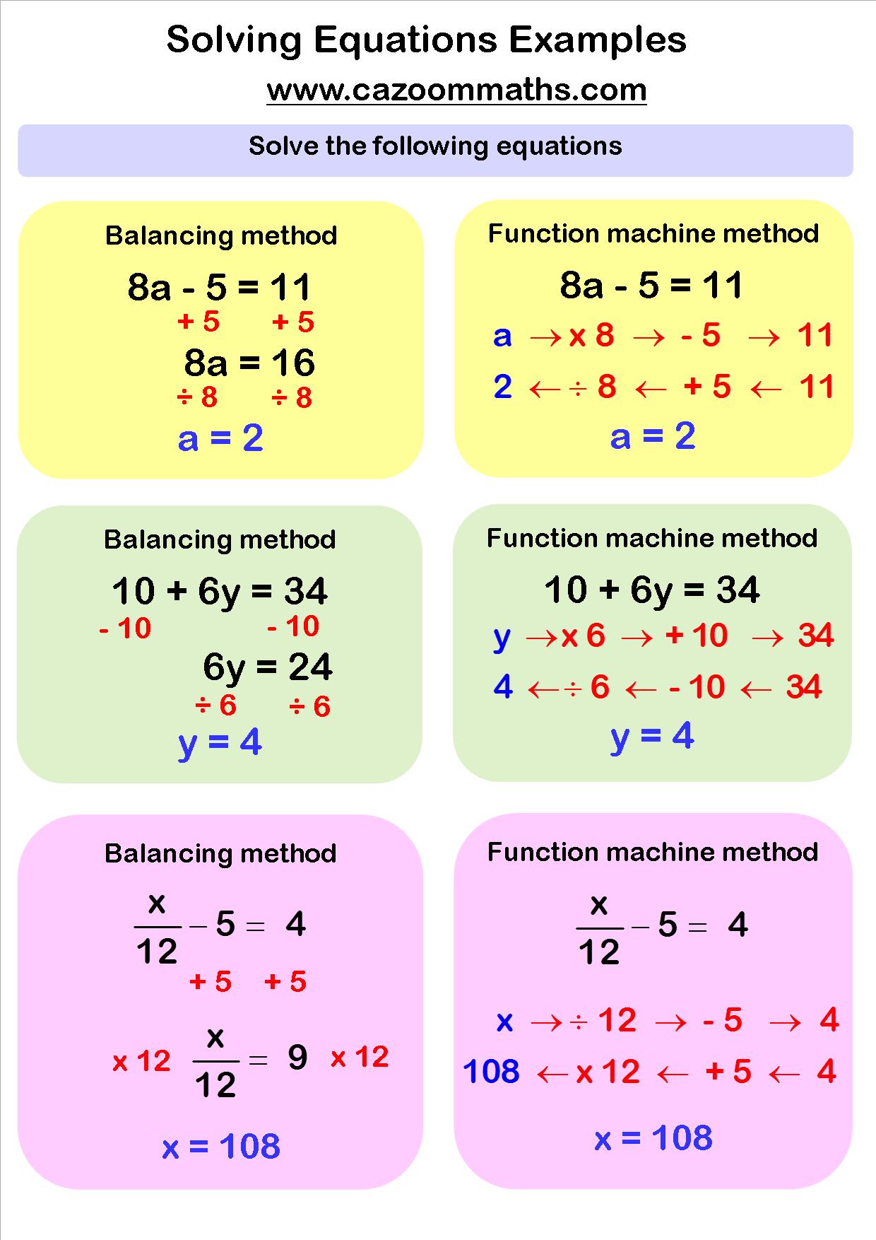 hight resolution of Fun Algebra Teaching Resources   Free Printable PDF Downloads