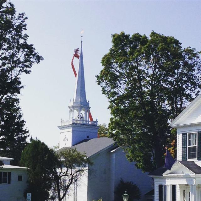 The Steele painting has begun presbyterian church painting highplaces beautifulday