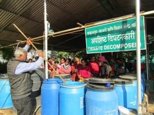 Waste decomposer unit at KVK, Pali
