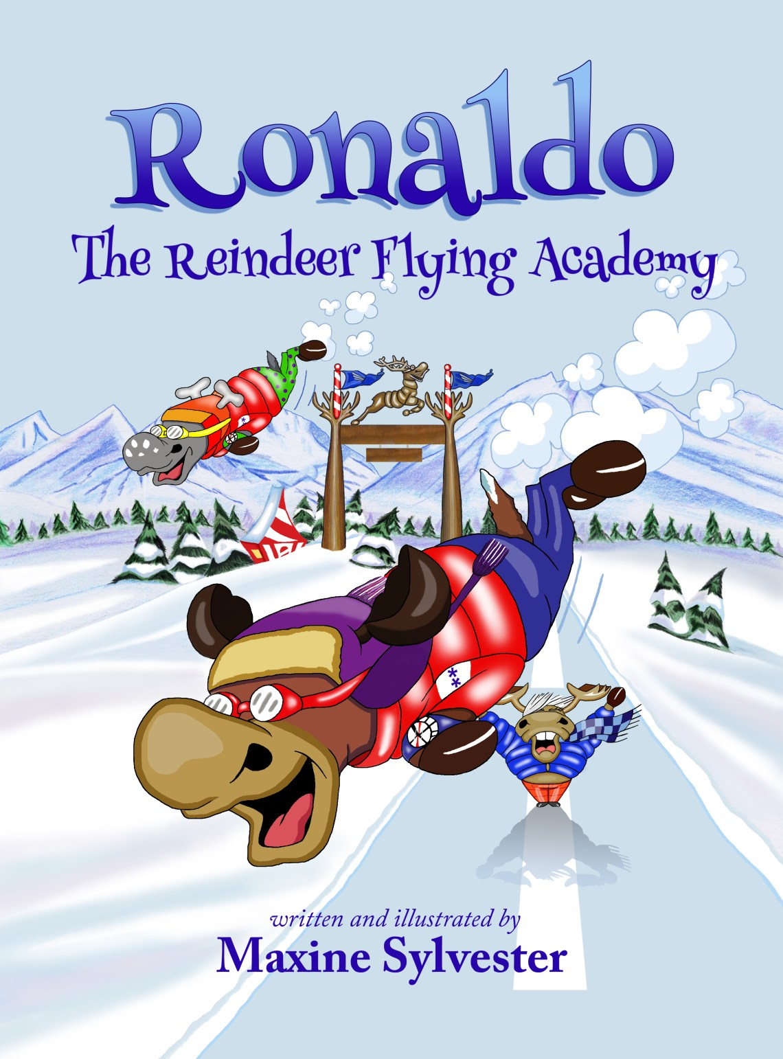 Ronaldo The Reindeer Flying Academy - Maxine Sylvester - Book Cover