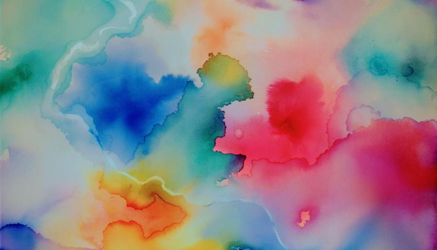 water colour splashes