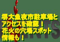 堺大魚夜市2019駐車場とアクセスを確認!花火の穴場スポット情報も!