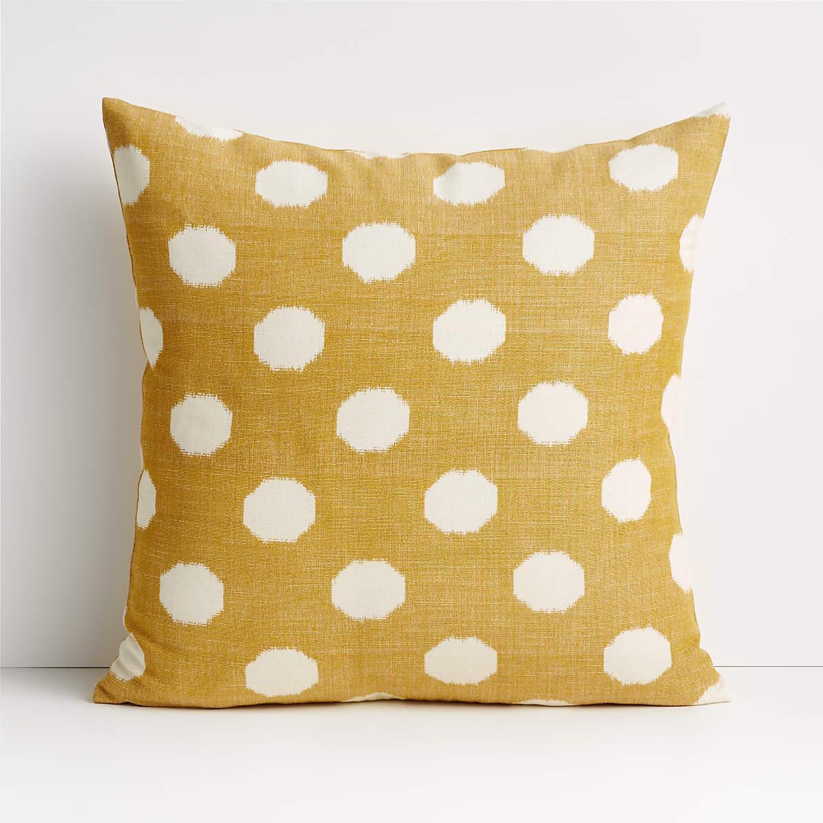 anellis 20 golden yellow polka dot pillow cover