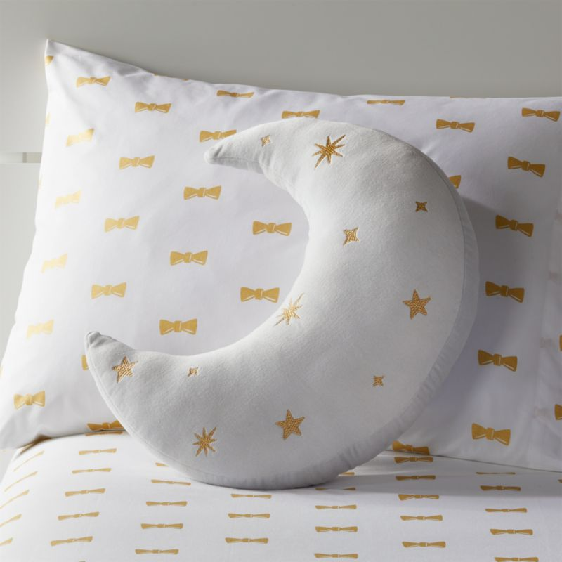 crescent moon throw pillow reviews crate and barrel