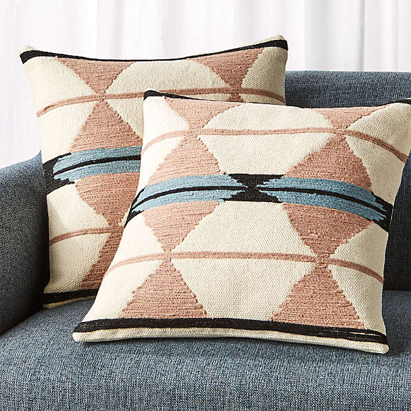 textured decorative pillows crate and