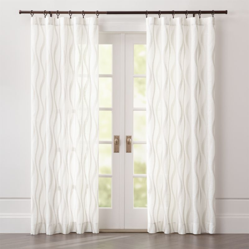 elester ivory sheer curtain panel crate and barrel