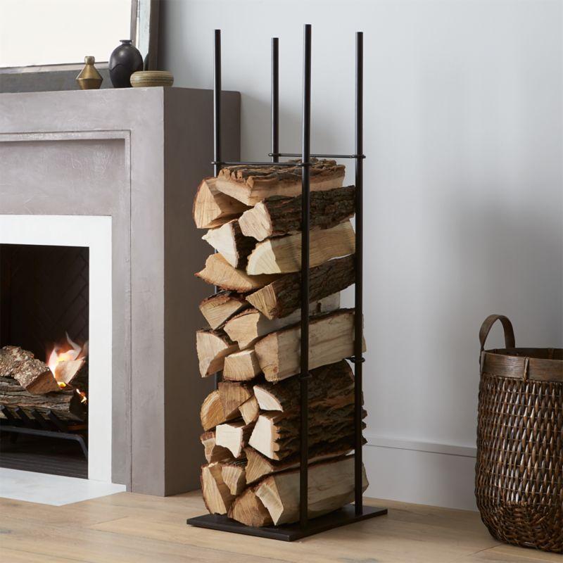 frame indoor outdoor log holder reviews crate and barrel
