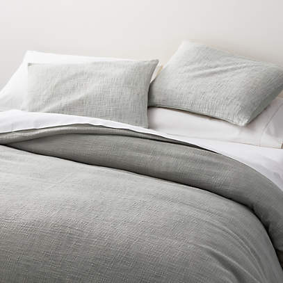 lindstrom grey duvet covers and pillow shams