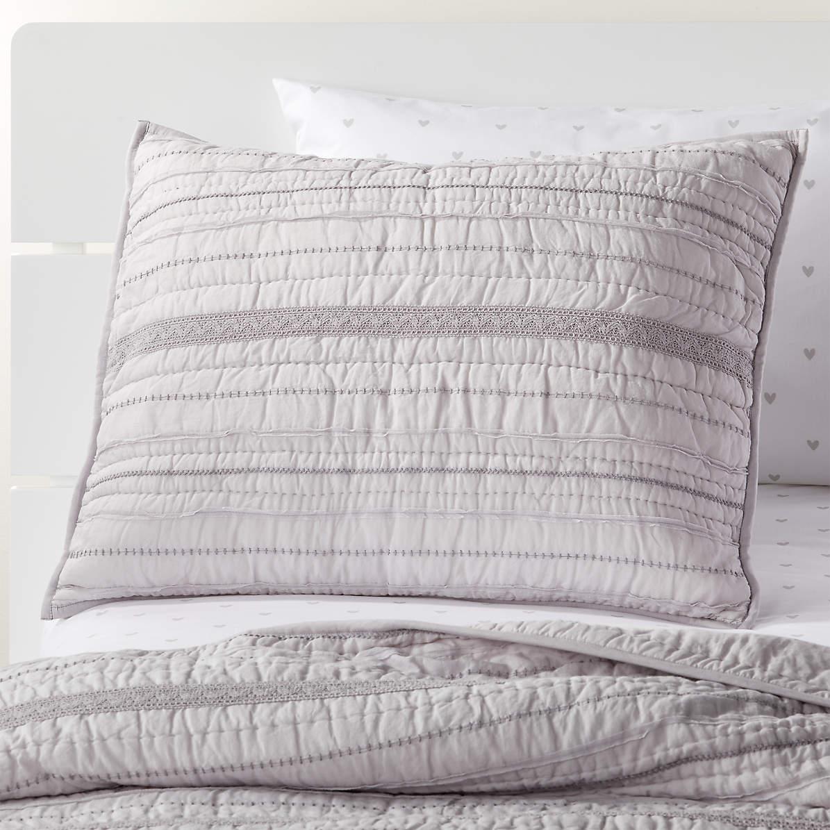 pattern play grey pillow sham