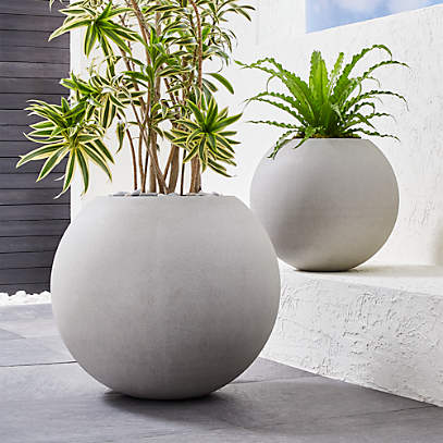 sphere light gray indoor outdoor