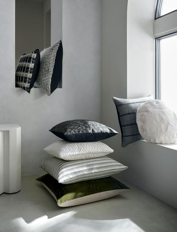 modern throw pillows poufs
