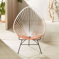 Cheap Plastic Outdoor Chairs Bobs Furniture Cream Puff Chair Modern Cb2 Acapulco Pink Egg
