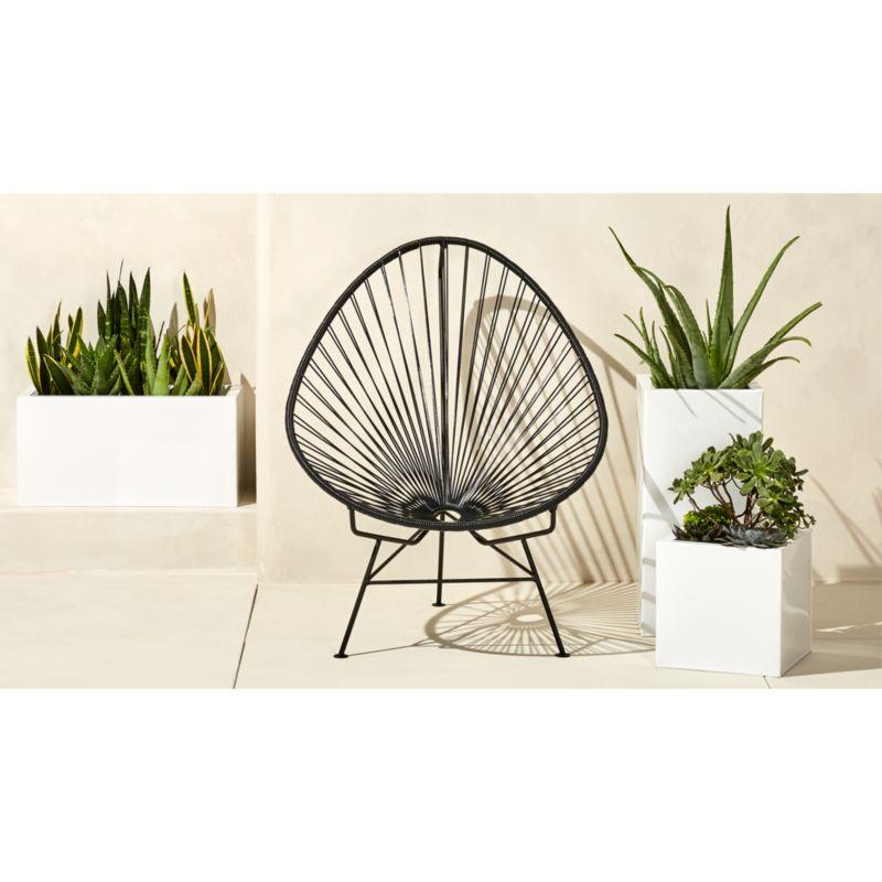 outdoor black acapulco chair  Reviews  CB2