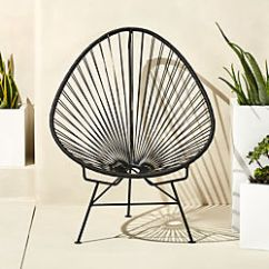 Metal Outdoor Chair Kids Sport Chairs Unique Furniture And Decor Cb2 Acapulco Black Egg