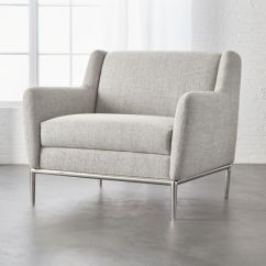 Modern Chairs Living Room Chair Contemporary Cb2 Alfred Stone Grey