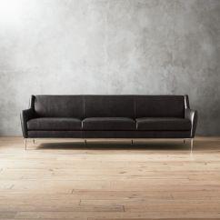 Black Leather Sofa Styles 2018 Chrome Sofas Cb2 Alfred Extra Large