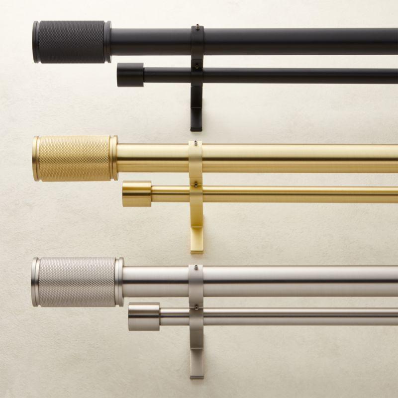 amp finial double rod curtain rod set cb2