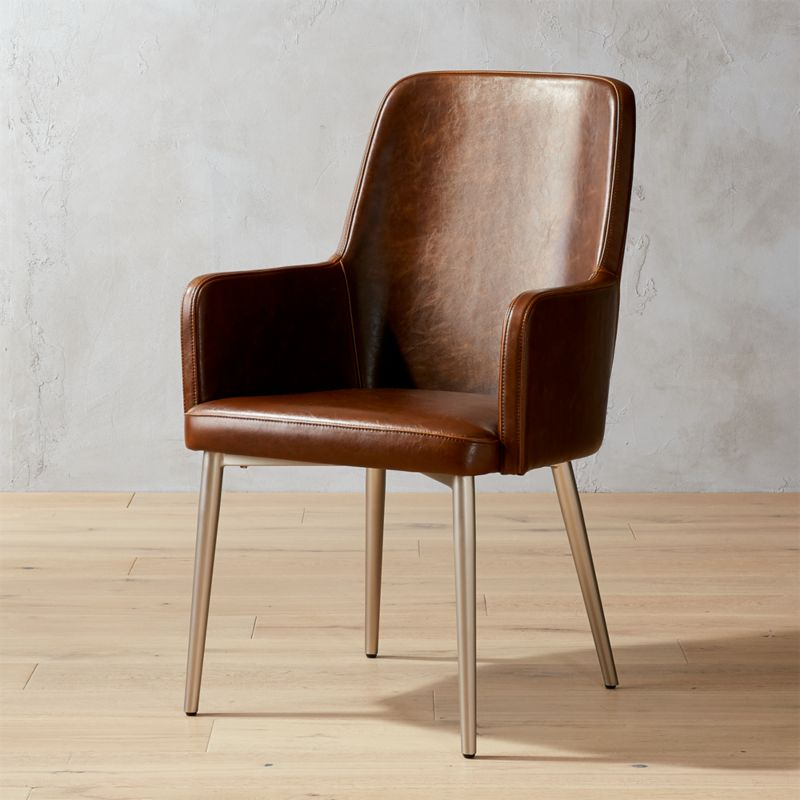 Aragon Leather Chair  Reviews  CB2