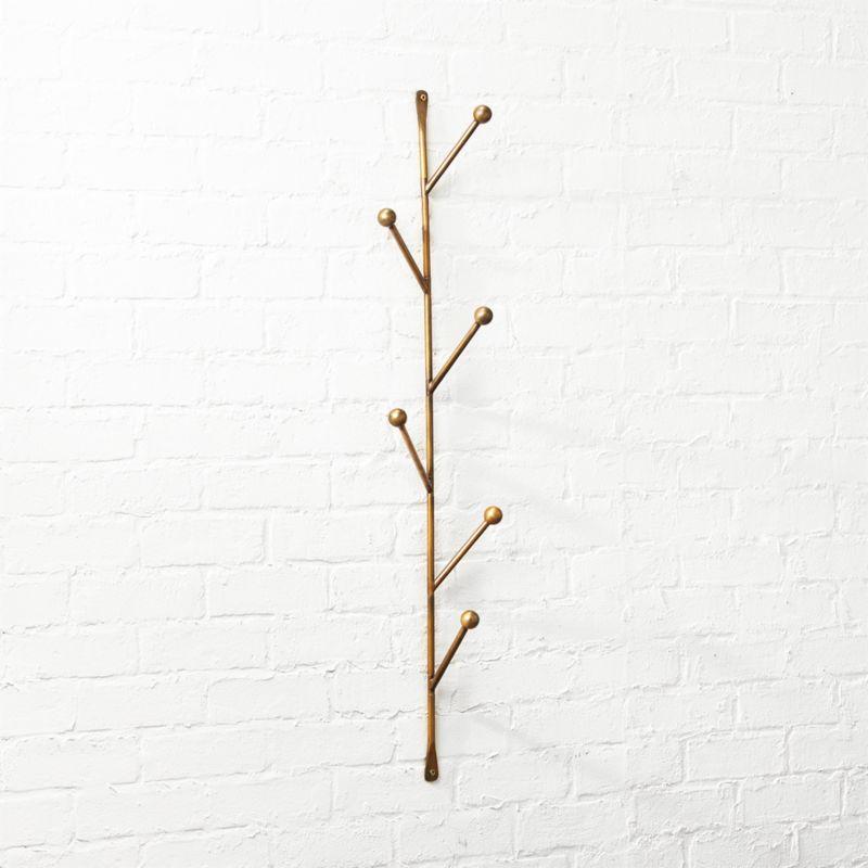 barker vertical wall mounted coat rack reviews cb2