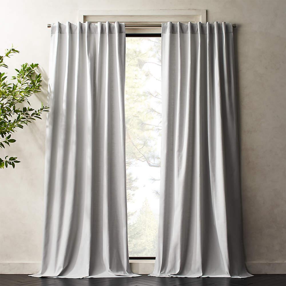 silver grey basketweave ii curtain