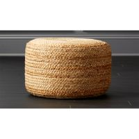braided jute pouf + Reviews | CB2