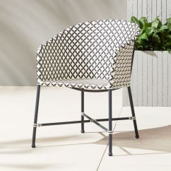 Black Rattan Chair Little Girl Table And Chairs Brava Outdoor Wicker Dining Reviews Cb2