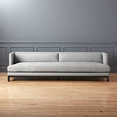 Modern Twine Curved Arm Sofa Fold Up Bunk Beds Sofas Couches And Loveseats Cb2 Brava Houndstooth