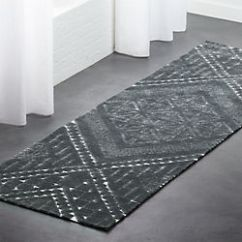 Kitchen Runner Corner Table Modern Rugs Cb2 Brea Grey Patterned 2 5 X8