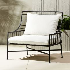 Al Fresco St Tropez Hanging Chair And Cushion Wheelchair That Goes Up Stairs Outdoor Cushions Cb2 Breton Black Metal