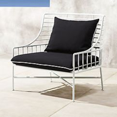 Metal Rocking Chair Runners Steamer Cushions Unique Outdoor Furniture Modern Tables And Chairs Cb2 Breton White